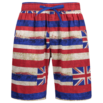 Union Jack Print Stripe Patriotic Board Shorts