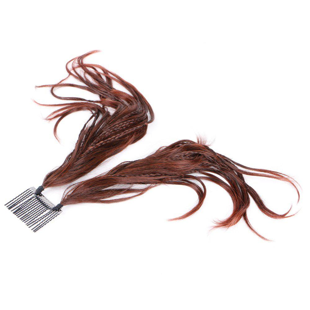 Short Straight Inserted Micro Braids Hair Pieces