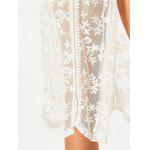 Sheer Lace Longline Cover Up Cardigan - BRANCO