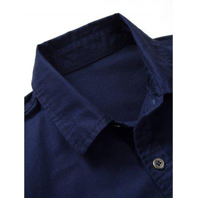 Embroidered Patch Short Sleeves ShirtMens Shirts<br>Embroidered Patch Short Sleeves Shirt<br><br>Collar: Turn-down Collar<br>Material: Polyester<br>Package Contents: 1 x Shirt<br>Pattern Type: Letter, Star<br>Shirts Type: Casual Shirts<br>Sleeve Length: Short<br>Weight: 0.3230kg