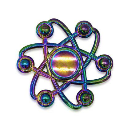 Floral Colorful Fidget Metal Spinner Anti-stress Toy