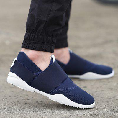 Buy DEEP BLUE 42 Breathable Elastic Stretch Fabric Casual Shoes for $25.94 in GearBest store