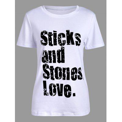 Sticks and Stones Love Print T-Shirt