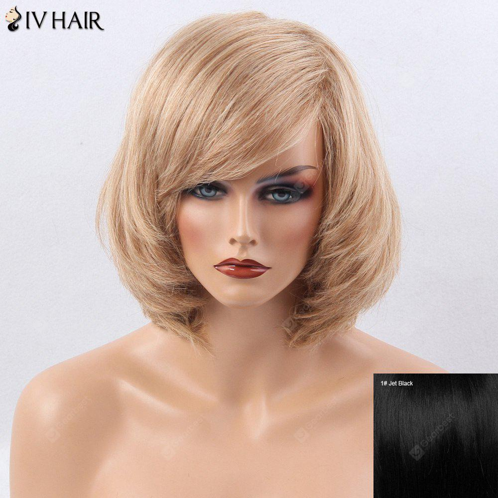 Buy Siv Hair Inclined Bang Straight Short Bob Human Wig JET BLACK 01#