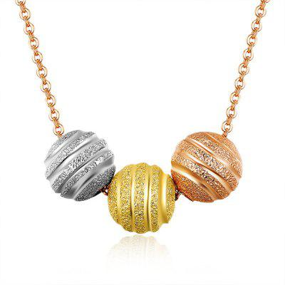Gold Plated Ball Pendant Necklace