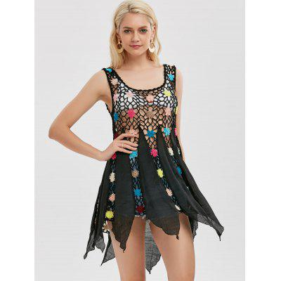 Floral Crochet Tunic Cover Up TopTank Tops<br>Floral Crochet Tunic Cover Up Top<br><br>Embellishment: Hollow Out<br>Material: Polyester<br>Package Contents: 1 x Cover Up Top<br>Pattern Type: Patchwork<br>Shirt Length: Long<br>Style: Casual<br>Weight: 0.3500kg
