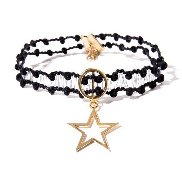 Crochet Circle Star Choker Necklace