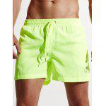 Breathable Quick Dry Sports Board Shorts - APPLE GREEN