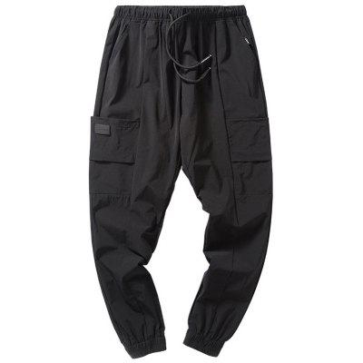 Buy BLACK Drawstring Harem Jogger Pants for $27.93 in GearBest store