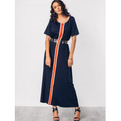 Knitting Panel Color Block Maxi DressMaxi Dresses<br>Knitting Panel Color Block Maxi Dress<br><br>Dresses Length: Floor-Length<br>Material: Cotton<br>Neckline: Round Collar<br>Occasion: Casual, Going Out<br>Package Contents: 1 x Dress<br>Pattern Type: Patchwork<br>Season: Summer<br>Sleeve Length: Short Sleeves<br>Weight: 0.5350kg<br>With Belt: No