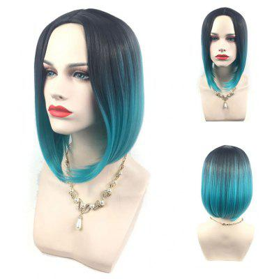 Adiors Middle Parting Ombre Straight Short Bob Synthetic Wig