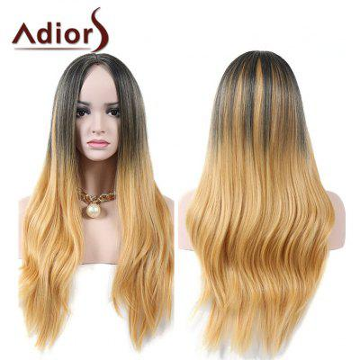 Buy COLORMIX Adiors Middle Parting Natural Straight Colormix Long Synthetic Wig for $20.16 in GearBest store