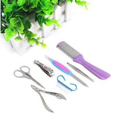7Pcs in 1 Nail Manicure Stainless Steel Tools Set