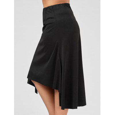 Plus Size Asymmetric Flowy Midi Skirt