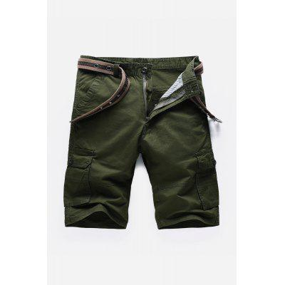 Buy Pockets Embellished Zipper Fly Cargo Shorts, ARMY GREEN, 30, Apparel, Men's Clothing, Men's Shorts for $29.69 in GearBest store