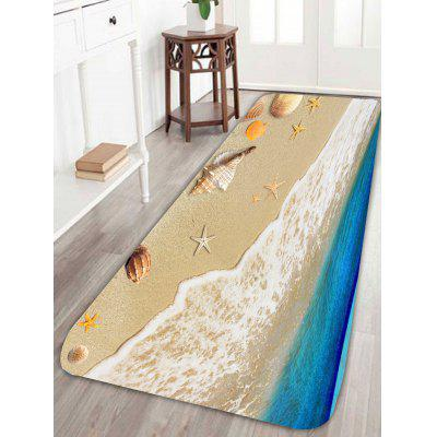 Beach Style Starfish Conch Antislip Bath Rug