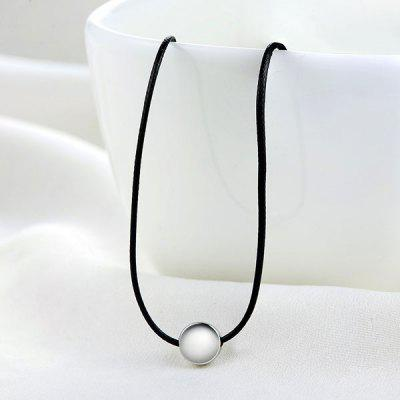 Faux Leather Rope Round Collarbone Necklace