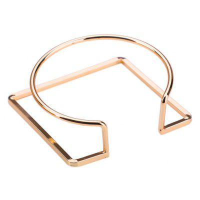Metal Alloy Geometric Circle Cuff Bracelet