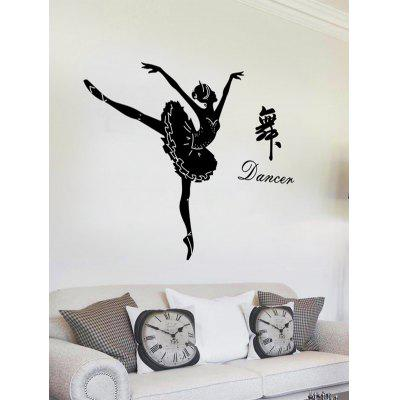 Removable Dancing Girl Letter Wall Sticker
