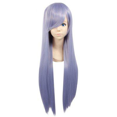 Buy PURPLE Ultra Long Side Bang Layered Silky Straight Synthetic Naruto Cosplay Anime Wig for $21.74 in GearBest store