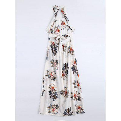 Floral Print High Slit Backless Long DressMaxi Dresses<br>Floral Print High Slit Backless Long Dress<br><br>Dresses Length: Floor-Length<br>Embellishment: Openwork<br>Material: Polyester<br>Neckline: Round Collar<br>Package Contents: 1 x Dress<br>Pattern Type: Floral<br>Season: Summer<br>Sleeve Length: Sleeveless<br>Weight: 0.2800kg<br>With Belt: No