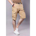 Bolsos Embellished Zipper Fly Cargo Shorts - PALOMINO