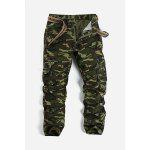 Camouflage Pattern Minitary Cargo Pants - ARMY GREEN CAMOUFLAGE