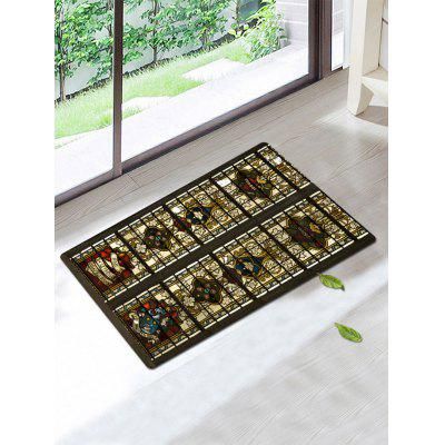 Ethnic Floral Pattern Skidproof Bath Rug