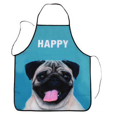 Kitchen Tool Waterproof Apron with Pug Print