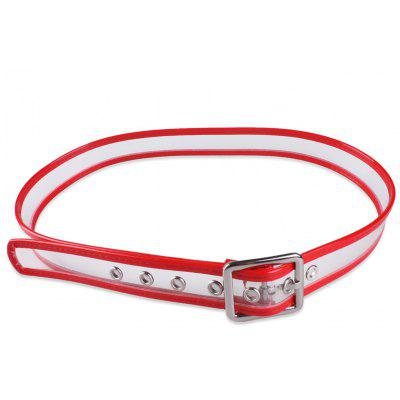Transparent Candy Color Brim Pin Buckle Belt