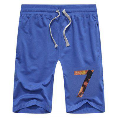 Buy BLUE 7 Printed Lace Up Sport Shorts for $23.15 in GearBest store