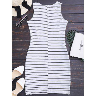 Round Neck Sleeveless Striped DressWomens Dresses<br>Round Neck Sleeveless Striped Dress<br><br>Dresses Length: Knee-Length<br>Material: Polyester<br>Neckline: Round Collar<br>Occasion: Causal, Going Out<br>Package Contents: 1 x Dress<br>Pattern Type: Striped<br>Season: Summer<br>Silhouette: Sheath<br>Sleeve Length: Sleeveless<br>Style: Casual<br>Weight: 0.2700kg<br>With Belt: No