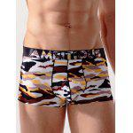 Camouflage Print Boxer Surfing Swimming Shorts - COLORMIX
