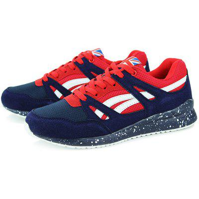 Trendy Splice and Color Block Design Athletic Shoes For Men