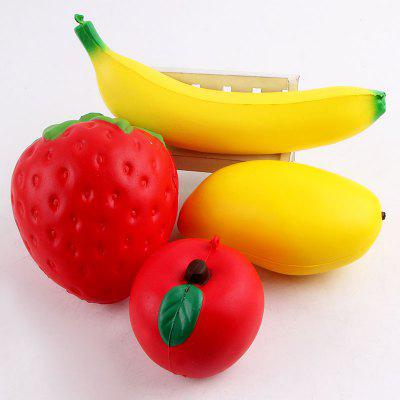 Simulazione Banana Apple Strawberry Shape Squishy Giocattoli
