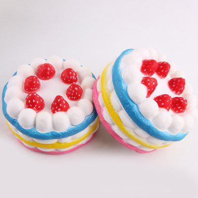 1Pcs Strawberry Cake Slow Rising Squeeze Squishy Toy