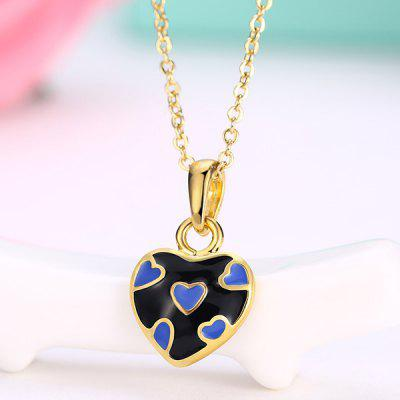 Buy BLACK Heart Design Pleted Pendant Necklace for $3.17 in GearBest store