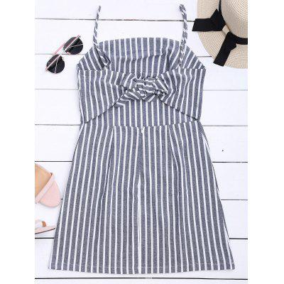 Striped Self Tie Spaghetti Strap DressWomens Dresses<br>Striped Self Tie Spaghetti Strap Dress<br><br>Dresses Length: Mini<br>Material: Polyester<br>Neckline: Spaghetti Strap<br>Occasion: Causal, Going Out<br>Package Contents: 1 x Dress<br>Pattern Type: Striped<br>Season: Summer<br>Silhouette: Straight<br>Sleeve Length: Sleeveless<br>Style: Casual<br>Weight: 0.2100kg<br>With Belt: No