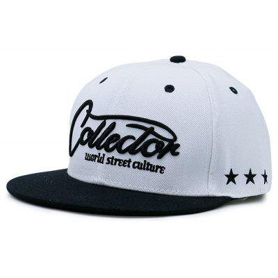 Flat Brim Letters Stars Embroidery Baseball Hat