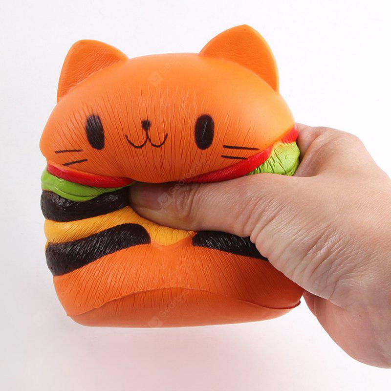Anti Stress Cartoon Katze Hamburger Squishy Charms Spielzeug