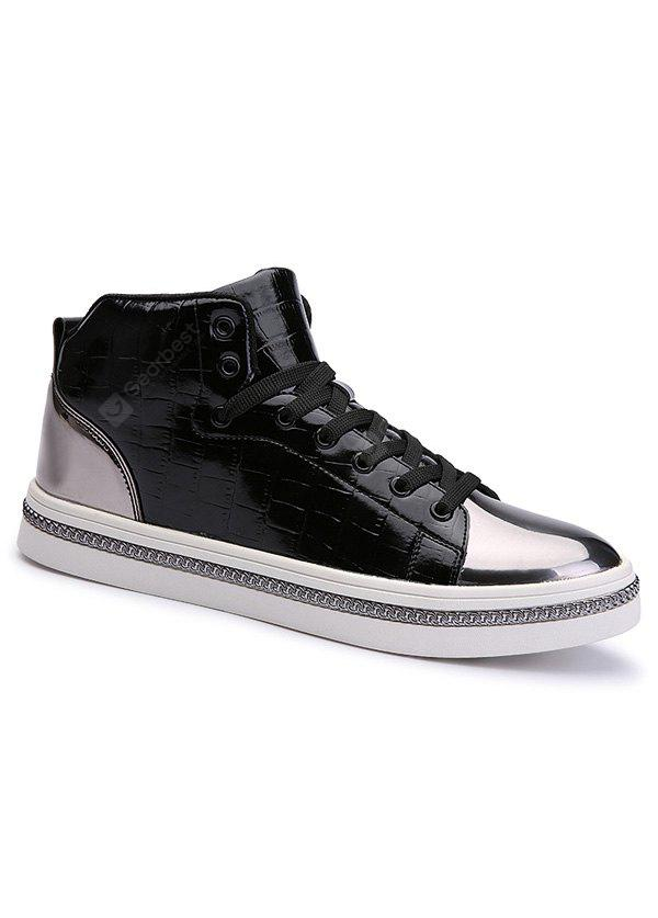 Stylish High Top and Color Splice Design Casual Shoes For Men