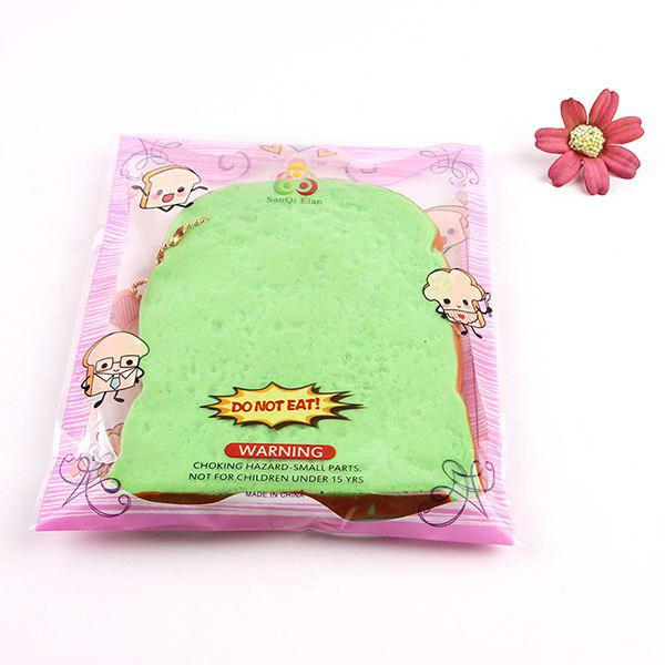 1Pcs Slow Rising Toast Slice Piece Bread Squishy Toy
