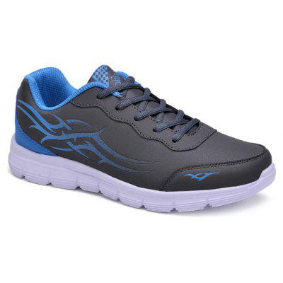 Buy GRAY 44 Color Block Lace Up Casual Shoes for $14.76 in GearBest store