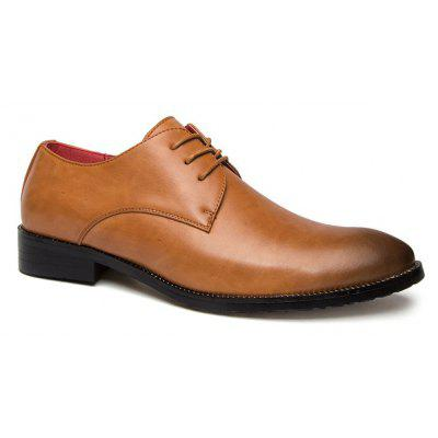 Buy BROWN 43 Stitching Lace Up Leather Casual Shoes for $23.50 in GearBest store
