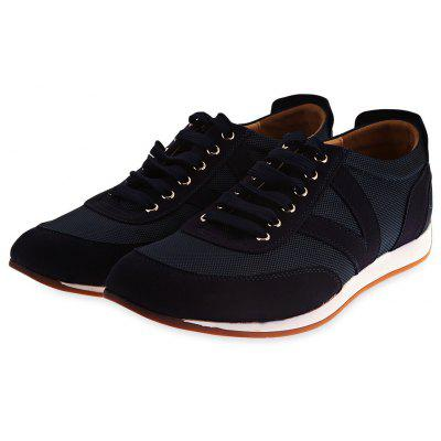 Mesh Breathable Suede Spliced Casual Shoes ODM Designer