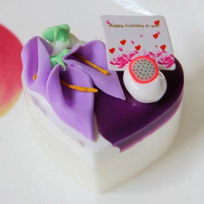 PU Simulation Heart Cake Model Squishy Toy