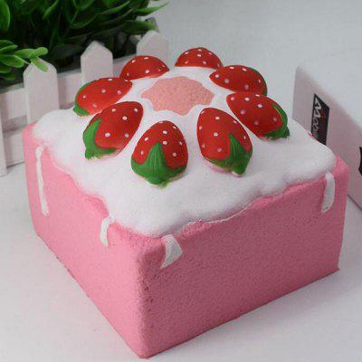 Simulation Strawberry Square Cake Slow Rising Squishy Toy