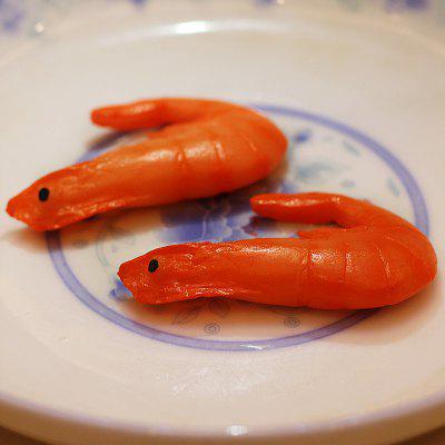 1 Pcs Decorative Simulation Shrimp Model