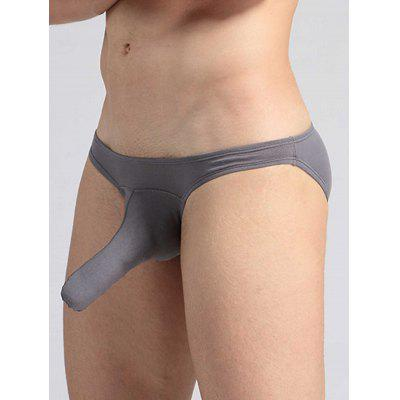 Buy CHARCOAL GRAY Elastic Waist Elephant Nose Convex Pouch Briefs for $9.42 in GearBest store