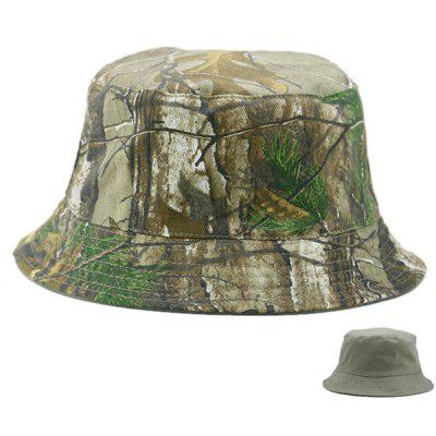 Camo and Solid Color Reversible Bucket Cap